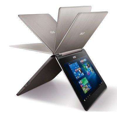 Ультрабук-трансформер ASUS VivoBook Flip TP301UA-C4138T (90NB0AL1-M02040) (90NB0AL1-M02040)Ультрабуки-трансформеры ASUS<br>Ноутбук Asus TP301UA-C4138T Core i7 6500U/4Gb/500Gb/UMA/13.3/FHD (1366x768)/Windows 10 Professional 64/dk.grey/WiFi/BT/Cam/3900mAh<br>