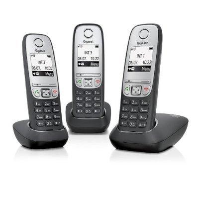 Радиотелефон Gigaset A415 TRIO (A415 TRIO) gigaset a415 trio black