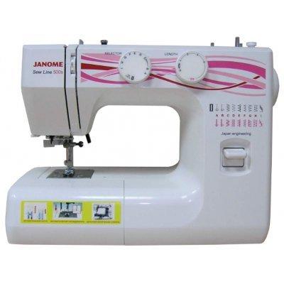Швейная машина Janome Sew Line 500s белый (SEW LINE 500S) швейная машина janome sew dream 510