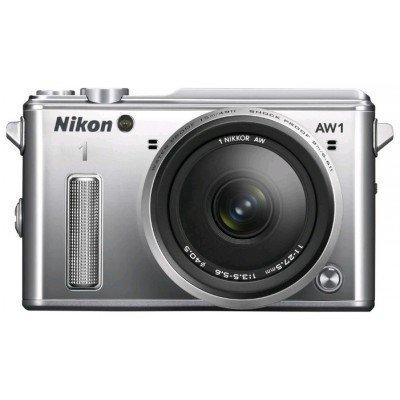 Цифровая фотокамера Nikon 1 AW1 Kit серебристый (VVA202K001)Цифровые фотокамеры Nikon<br>Фотоаппарат Nikon 1 AW1 серебристый 14.2Mpix 2.9 1080i GPS 11-27.5mm f/3.5-5.6 EN-EL20<br>