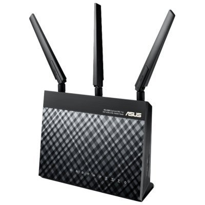 Wi-Fi xDSL точка доступа (роутер) ASUS DSL-AC68U (DSL-AC68U)Wi-Fi xDSL точки доступа (роутеры) ASUS<br>DSL-AC68U Wireless VDSL2/ADSL Dual-band Modem AC1900 Router, 802.11ac, 1300+600 Mbps, Dual CPUs, Software Dual Wan, 2.4Ghz and 5Ghz con-current dual-band Giga LAN4, 300K session download<br>