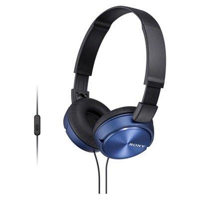 Наушники Sony MDR-ZX310AP голубые (MDRZX310APL.CE7) наушники с микрофоном sony mdr zx310ap black