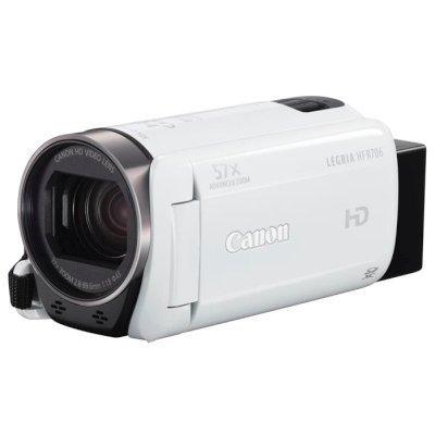 Цифровая видеокамера Canon Legria HF R706 белый (1238C004 white)Цифровые видеокамеры Canon<br>Видеокамера Canon Legria HF R706 белый 32x IS opt 3 Touch LCD 1080p XQD Flash<br>