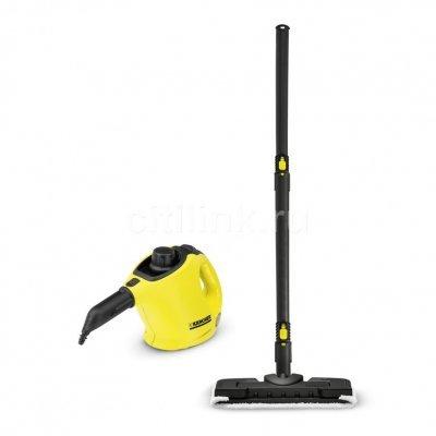 Пароочиститель Karcher SC 1 + Floorkit EU-II желтый/черный (15162710) паровая станция karcher sc 5 eu желтый 1 512 500 0