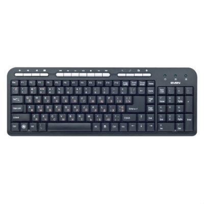 Клавиатура SVEN STANDARD 309M черный (SV-03100309UB) коврик sven ub sv 011130