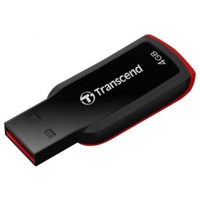 USB накопитель Transcend 4Gb Jetflash 360 (TS4GJF360)USB накопители Transcend<br>Флеш Диск Transcend 4Gb Jetflash 360 TS4GJF360 USB2.0 черный/красный<br>