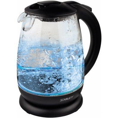 Электрический чайник Scarlett SC-EK27G15 черный (SC-EK27G15)Электрические чайники Scarlett<br>Чайник электрический Scarlett SC-EK27G15 1.7л. 2200Вт черный (корпус: пластик/стекло)<br>
