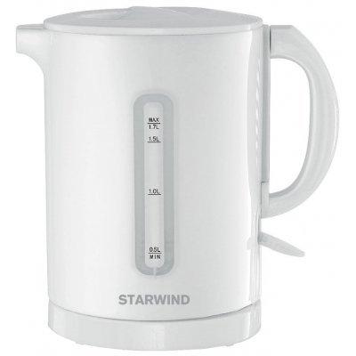 Электрический чайник StarWind SKP1431 белый (SKP1431)Электрические чайники StarWind <br>чайник<br>объем 1.7 л<br>мощность 2200 Вт<br>открытая спираль<br>жесткая фиксация на подставке<br>пластиковый корпус<br>индикация включения<br>
