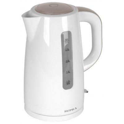 Электрический чайник Supra KES-3011 белый (KES-3011)Электрические чайники Supra<br>чайник<br>объем 3 л<br>закрытая спираль<br>установка на подставку в любом положении<br>пластиковый корпус<br>индикация включения<br>вес 0.8 кг<br>