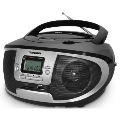 Аудиомагнитола Telefunken TF-CSRP3445 черный (TF-CSRP3445(ЧЕРНЫЙ))Аудиомагнитолы Telefunken<br>Аудиомагнитола Telefunken TF-CSRP3445 черный 2Вт/CD/CDRW/MP3/FM(dig)/USB/SD/MMC<br>
