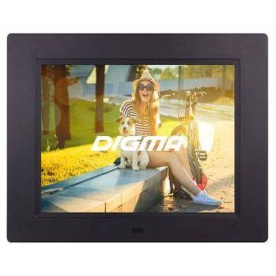 "Цифровая фоторамка Digma 8"" PF-833 черный (PF833BK)"