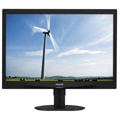 Монитор Philips 24 240S4QMB черный (240S4QMB/00)Мониторы Philips<br>с поворотом экрана (61 cm, PLS, LED, 1920x1200, 5 ms, 178°/178°, 250 cd/m, 20M:1, +DVI, +MM)<br>