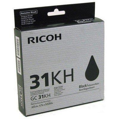 Картридж для струйных аппаратов Ricoh GC 31KH черный (405701)Картриджи для струйных аппаратов Ricoh<br>Картридж гелевый GC 31KH (4.32К) черный Aficio GX e5550N/ GX e7700N<br>
