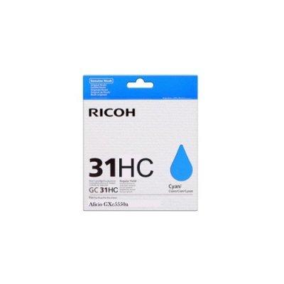 Картридж для струйных аппаратов Ricoh GC 31KH голубой (405702)Картриджи для струйных аппаратов Ricoh<br>Картридж гелевый GC 31KH (4.89К) голубой Aficio GX e5550N/ GX e7700N<br>