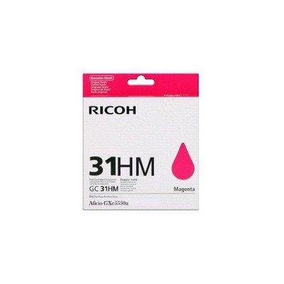 Картридж для струйных аппаратов Ricoh GC 31KH пурпурный (405703)Картриджи для струйных аппаратов Ricoh<br>Картридж гелевый GC 31KH (4К) пурпурный Aficio GX e5550N/ GX e7700N<br>