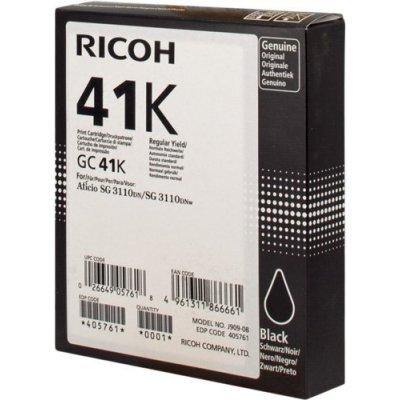 Картридж для струйных аппаратов Ricoh GC 41K черный (405761)Картриджи для струйных аппаратов Ricoh<br>Картридж гелевый GC 41K (2.5К) черный Aficio Aficio 3110DN/ 3110DNw/3100SNw/3110SFNw<br>