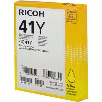 Картридж для струйных аппаратов Ricoh GC 41Y желтый (405764)Картриджи для струйных аппаратов Ricoh<br>Картридж гелевый GC 41Y (2.2К) желтый Aficio Aficio 3110DN/ 3110DNw/3100SNw/3110SFNw<br>