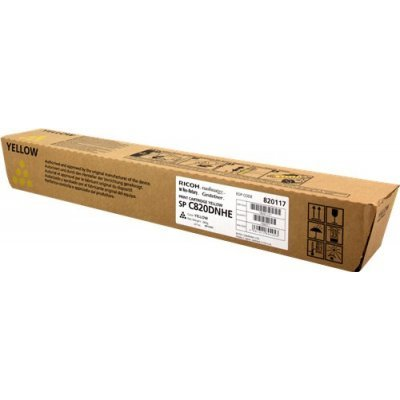 Тонер-картридж для лазерных аппаратов Ricoh тип SPC820DNHE желтый (820117)Тонер-картриджи для лазерных аппаратов Ricoh<br>Принт-картридж тип SPC820DNHE (15K) желтый Aficio SP C820DN/C821DN<br>