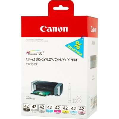Картридж для струйных аппаратов Canon CLI-42 8inks Multi Pack (6384B010) (6384B010) 1set compatible ink cartridge cli 42 cli 42 with chip for canon pixma pro 100 100s printer