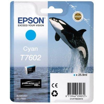 Картридж для струйных аппаратов Epson T7602 голубой для SC-P600 (C13T76024010) (C13T76024010) принтер epson surecolor sc p600