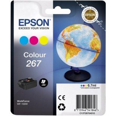 Картридж для струйных аппаратов Epson T267 цветной для WF-100 (C13T26704010) (C13T26704010)Картриджи для струйных аппаратов Epson<br>Картридж Epson T267 цветной для WF-100<br>