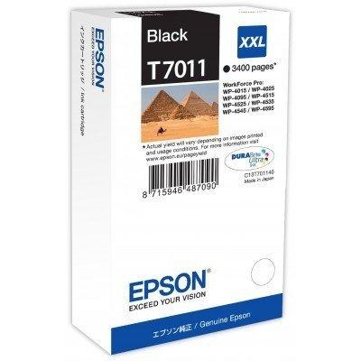 Картридж для струйных аппаратов Epson T7011 для WP-4015/4095/4515/4595 черный (C13T70114010) (C13T70114010) картридж с чернилами uniprint epson wp4515dn wp4525 wp4595 wp4015 wp 4545 wp4025 t7021 t7011 t7012 t7013 t7014