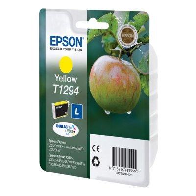 Картридж для струйных аппаратов Epson T1294 повышенной емкости для SX425/SX525/BX305/BX320/BX625 желтый (C13T12944011) (C13T12944011)Картриджи для струйных аппаратов Epson<br>Картридж EPSON T1294 желтый повышенной емкости для SX425/SX525/BX305/BX320/BX625<br>