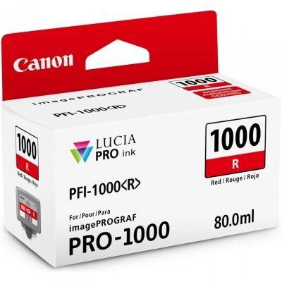 Картридж для струйных аппаратов Canon PFI-1000 R для IJ SFP PRO-1000 WFG Красный (0554C001) (0554C001)Картриджи для струйных аппаратов Canon<br>Картридж Canon PFI-1000 R для  IJ SFP PRO-1000 WFG. Красный. 80 мл.<br>