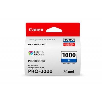 Картридж для струйных аппаратов Canon PFI-1000 B для IJ SFP PRO-1000 WFG Синий (0555C001) (0555C001)Картриджи для струйных аппаратов Canon<br>Картридж Canon PFI-1000 B для  IJ SFP PRO-1000 WFG. Синий. 80 мл.<br>