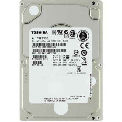 Жесткий диск серверный Toshiba 300Gb AL13SEB300 (AL13SEB300)