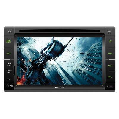 Автомагнитола Supra SWD-6000NV (SWD-6000NV)Автомагнитолы Supra<br>Автомагнитола CD DVD Supra SWD-6000NV 2DIN 4x50Вт ПО:Navitel<br>