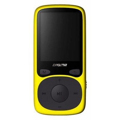 Цифровой плеер Digma B3 8Gb желтый (B3YL)Цифровые плееры Digma<br>Плеер Flash Digma B3 8Gb желтый/1.8/FM/microSD<br>