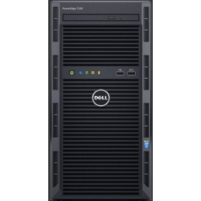 Сервер Dell PowerEdge T130 (T130-AFFS-01T) (T130-AFFS-01T)Серверы Dell<br>Tower/ no CPU(E3-1200v5)/ HS/ no memory(4)/ H330/ no HDD/ UpTo4LFF cabled HDD/ DVDRW/ iDRAC8 Exp/ 2xGE/ 1x290W cabled PSU/ 3YBWNBD<br>