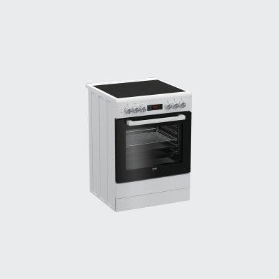 Электрическая плита Beko FSM67320GWS белый (FSM67320GWS)Электрические плиты Beko<br>Плита Электрическая Beko FSM67320GWS белый<br>