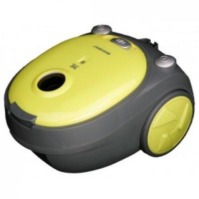 Пылесос Shivaki SVC-1438 желтый (SVC-1438Y)Пылесосы Shivaki<br>пылесос<br>сухая уборка<br>с мешком для сбора пыли<br>мощность всасывания 200 Вт<br>пылесборник на 2.5 л<br>работа от сети<br>потребляемая мощность 1400 Вт<br>