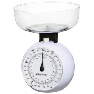 Весы кухонные Endever KS-517 (KS-517)Весы кухонные Endever<br>механические кухонные весы<br>чаша для продуктов<br>нагрузка до 5 кг<br>точность измерения 40 г<br>
