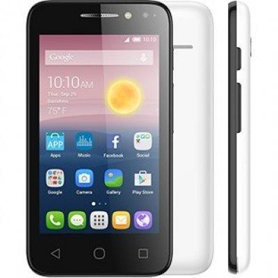 Смартфон Alcatel PIXI 4 4034D белый (4034D-2BALRU1)Смартфоны Alcatel<br>ОС Android 6.0, экран: 4 дюйма, TFT, 800x480, процессор: MediaTek MT6580, 1300МГц, 4-х ядерный, камера: 3.2Мп, GPS, время работы в режиме разговора, до: 7ч, в режиме ожидания, до: 300ч<br>