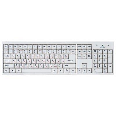 Клавиатура SVEN STANDARD 303 белый (SV-03100303UW)Клавиатуры SVEN<br>USB, RUS, белый<br>