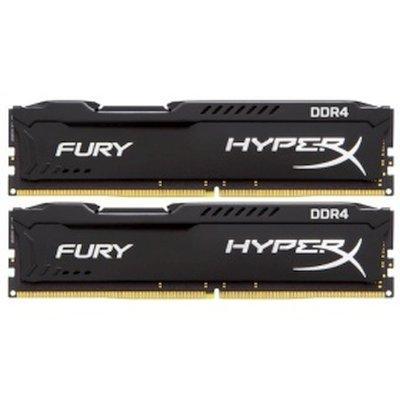Модуль оперативной памяти ПК Kingston HX421C14FB2K2/16 16Gb DDR4 (HX421C14FB2K2/16)Модули оперативной памяти ПК Kingston<br>Kingston HyperX FURY Black DDR4 16GB (Kit (4 x 8Gb)) (PC4-17000) 2133MHz<br>