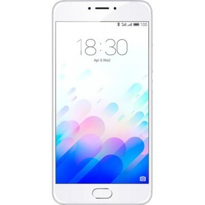 Смартфон Meizu M3 Note 32Gb серебристый белый (L681H-32-SW)