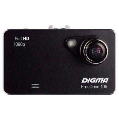 Видеорегистратор Digma FREEDRIVE 106 (FREEDRIVE 106)Видеорегистраторы Digma<br>Видеорегистратор Digma FreeDrive 106 черный 1.3Mpix 1080x1920 1080p 120гр. GP1248<br>
