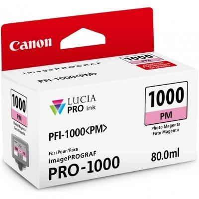 Картридж для струйных аппаратов Canon PFI-1000 PM для IJ SFP PRO-1000 WFG. Фото пурпурный. 80 мл. (0551C001)Картриджи для струйных аппаратов Canon<br>Картридж Canon PFI-1000 PM для  IJ SFP PRO-1000 WFG. Фото пурпурный. 80 мл.<br>