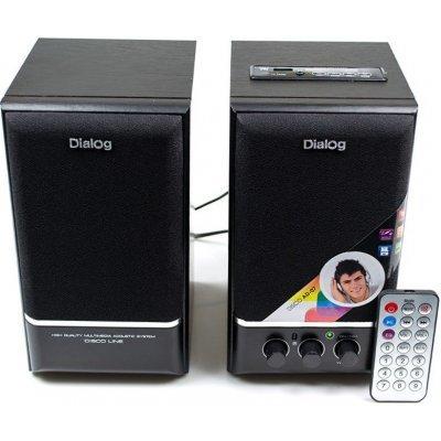 Компьютерная акустика Dialog AD-07 черный (AD-07 black) портативные колонки с fm радио