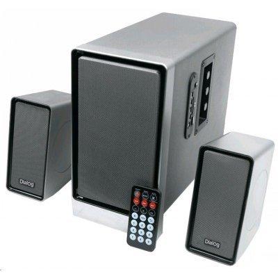 Компьютерная акустика Dialog AP-207 (AP-207)Компьютерная акустика Dialog<br>Колонки Dialog Progressive AP-207 black 2.1, 18W+2*10W RMS, USB+SD reader<br>