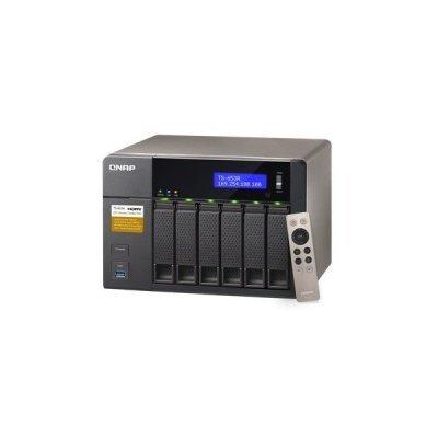 Сетевой накопитель NAS Qnap TS-653A-4G (TS-653A-4G)Сетевые накопители NAS Qnap<br>Сетевой накопитель QNAP TS-653A-4G Сетевой RAID-накопитель, 6 отсеков для HDD, HDMI-порт. Четырехъядерный Intel Celeron N3150 1,6 ГГц<br>