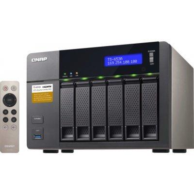 Сетевой накопитель NAS Qnap TS-653A-8G (TS-653A-8G)Сетевые накопители NAS Qnap<br>Сетевой накопитель QNAP TS-653A-8G Сетевой RAID-накопитель, 6 отсеков для HDD, HDMI-порт. Четырехъядерный Intel Celeron N3150 1,6 ГГц<br>