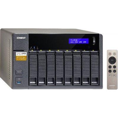 Сетевой накопитель NAS Qnap TS-853A-8G (TS-853A-8G)Сетевые накопители NAS Qnap<br>Сетевой накопитель QNAP TS-853A-8G Сетевой RAID-накопитель, 8 отсеков для HDD, HDMI-порт. Четырехъядерный Intel Celeron N3150 1,6 ГГц<br>
