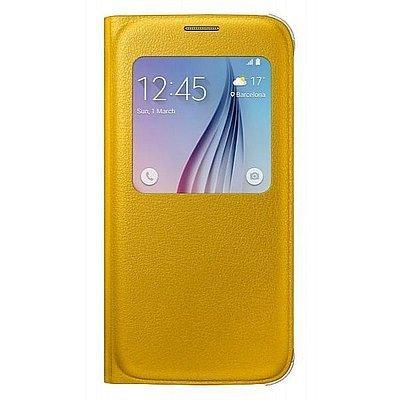 Чехол для смартфона Samsung Galaxy S6 SM-G920F желтый (EF-CG920PYEGRU) (EF-CG920PYEGRU)