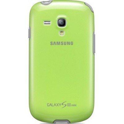 Чехол для смартфона Samsung для S3 mini/I8190 зеленый (EFC-1M7BGEGSTD) (EFC-1M7BGEGSTD)Чехлы для смартфонов Samsung<br>Силиконовый чехол Protective Cover+ S3 mini/I8190 Green<br>