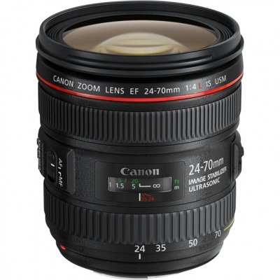 Объектив для фотоаппарата Canon EF 24-70mm f/4L IS USM (6313B005) объектив canon ef 11 24 mm f 4 l usm